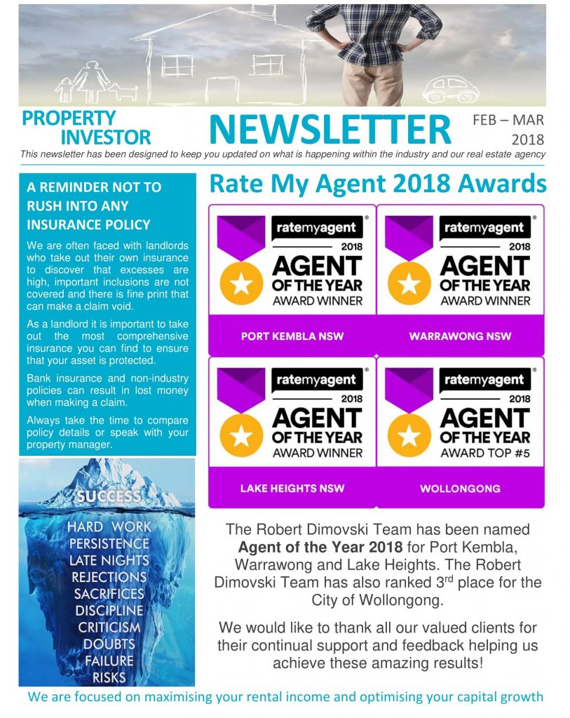 rate my agent 2018 awards agent of the year dimosons real estate